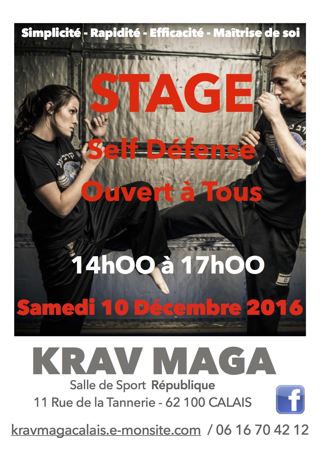 Stage krav maga calais 10 12 2016